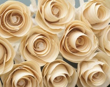 12 Wooden roses for 5th anniversary birthday get well soon gift, unique gift, FREE SHIPPING wedding flowers,