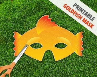Goldfish Mask | Fish Mask | Photo Prop | Printable Party Mask