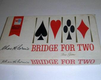 Vintage Bridge For Two Game - 1964 Milton Bradley Bridge Game - Card Game - 2 Player Bridge - Bridge Set - Vintage Board Games - Family Game