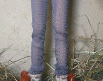 Jiajiadoll-grey mesh legging fits Momoko or Blythe or Misaki
