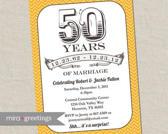 50th Anniversary Invitation -  Printable Digital Invitation