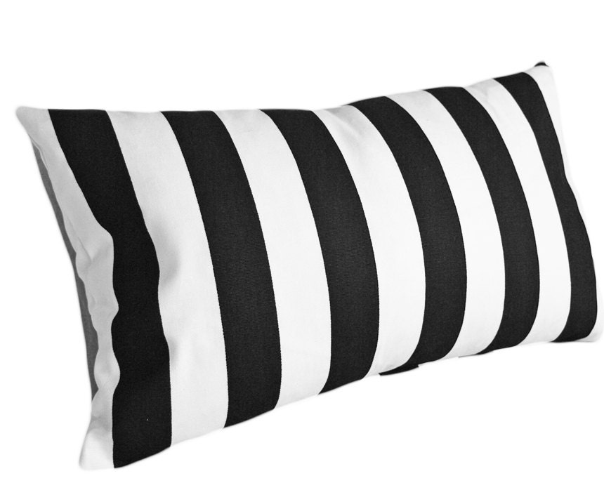 Black Stripe Throw Pillow : Black White Striped Pillow Covers 12x18 Lumbar Striped Throw