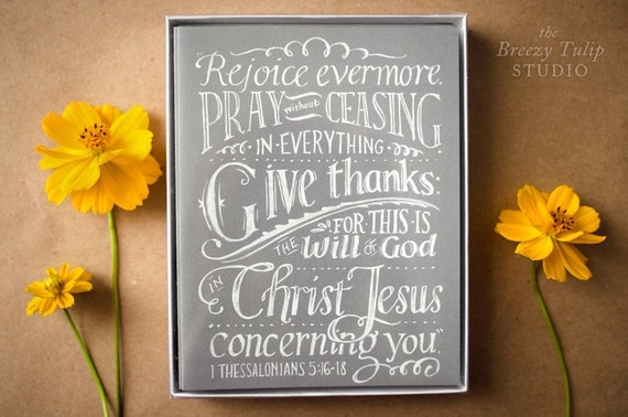 Notecards of Chalkboard Lettering and Pencil Illustrations - Set of 10