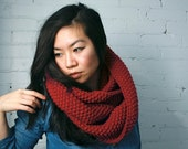 Infinity Cowl, knit infinity cowl, Red- Velvet (LAST ONE)