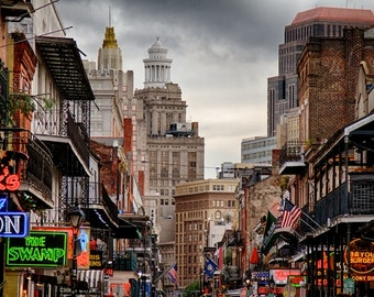 Bourbon Street - 8 x 10 HDR Image - New Orleans