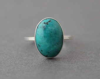 Turquoise Ring, Sterling Silver Ring, December's Birthstone, Made to order