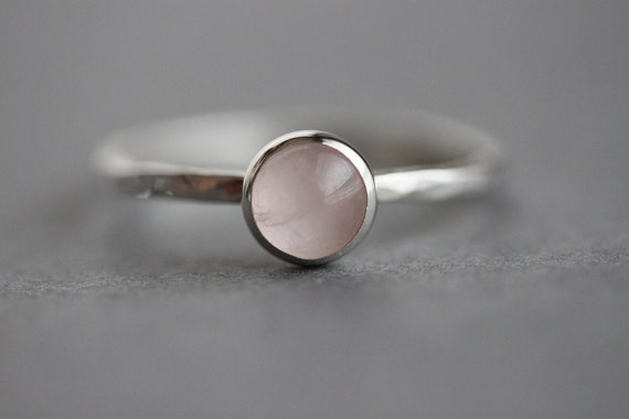 My Precious - Sterling Rose Quartz Ring - Custom made for you