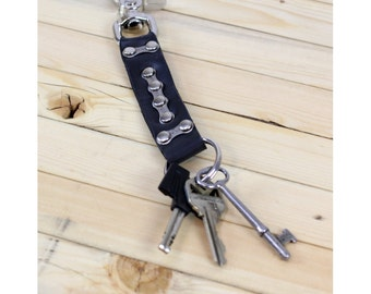 Recycled Bike Tube Keychain