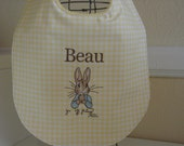 Personalized Peter Rabbit, Beatrix Potter baby bib