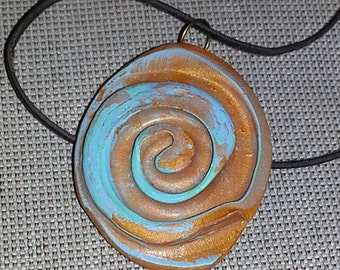 Holiday Sale Faux Patina Copper  Necklace