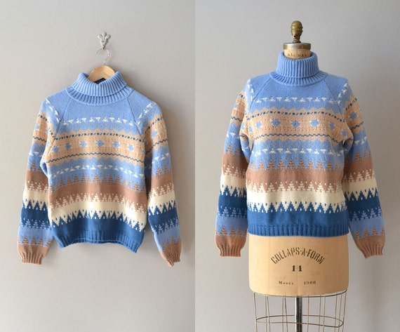 Benetton turtleneck sweater / vintage ski sweater by DearGolden