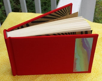 Blank Handmade Journal with Red Covere
