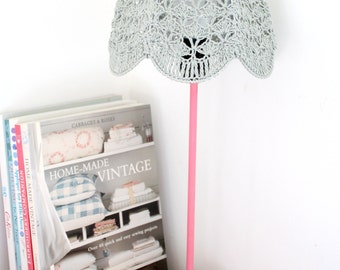 Crochet Lampshade - Gray