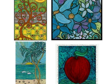 Misc. Notecard Collection - Acid Free Cardstock - Suitable for Framing - Envelopes
