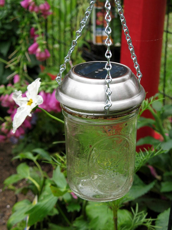 hanging mason jar solar light ball mason jar light by llfarm