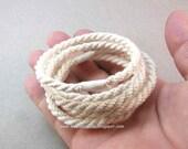 slender white cotton grommet rope bracelets soft bangles nautical rope bracelets 3019