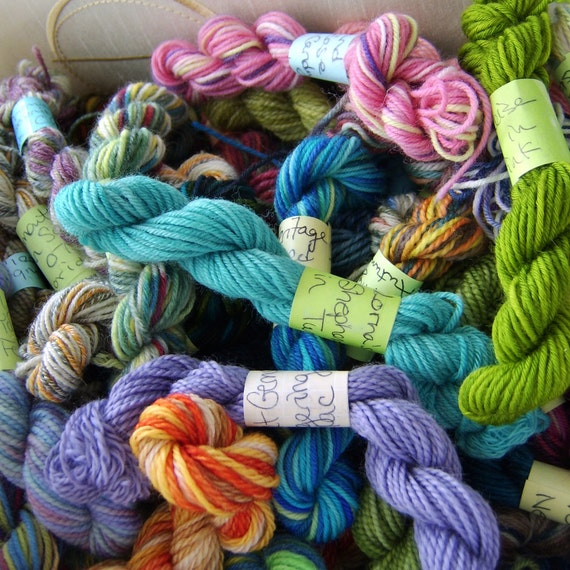Spring Blossoms - Mini Skeins Fingering Sock Yarn Kit - Mini Mania (10)