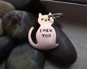 I Mew you kitty keychain