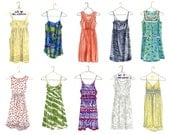 """Limited Edition Print- Bright Summer Dress Collection  (UNFRAMED, 11"""" x 14"""")"""
