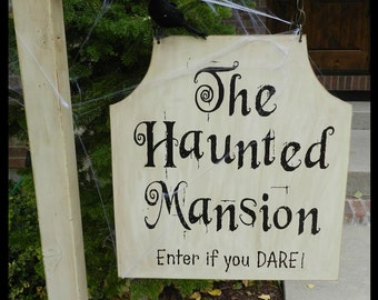 Haunted Mansion Outdoor Sign Decoration Vinyl Lettering for DIY Sign