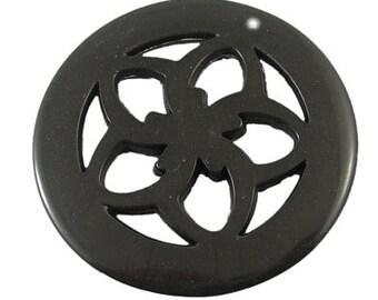 Sale - Black Acrylic Pendant - set of 4 - #ACR120
