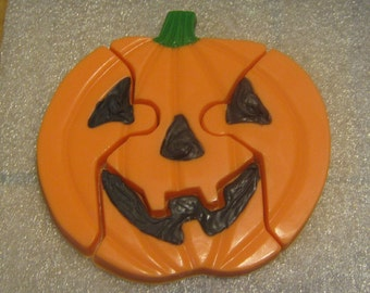 Jack o lantern pumpkin Halloween fall edible chocolate puzzle