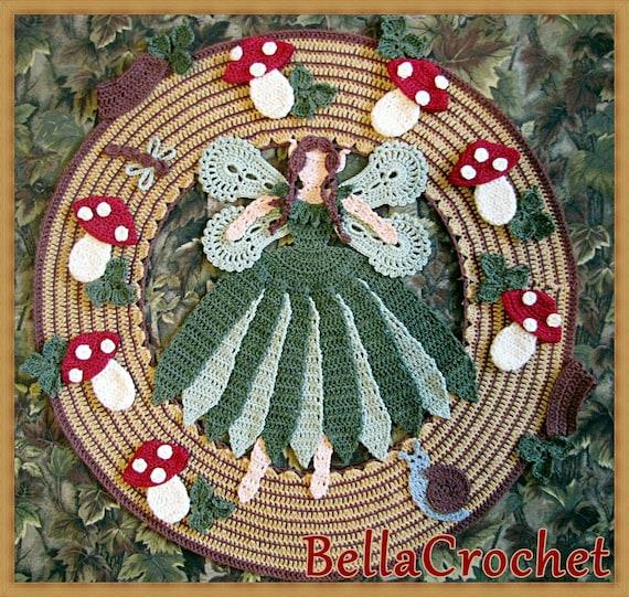 PDF Crochet Pattern- Woodland Fairy Doily