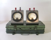 Vintage GE Meters // steampunk shelf display / 2 available