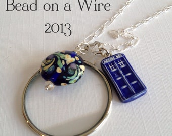 The Cranford Monocle - Doctor Who - Van Gogh and The Blue Box on Sterling Silver (CN-47)