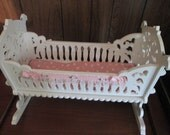 Bitty baby doll cradle