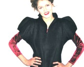 BASIA'S Provocatec  Black Vest with high cap sleeves - FREE US Shipping