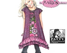 GIRL CLOTHES PATTERN / Make Boutique Style Dress / Sizes 3 to 8