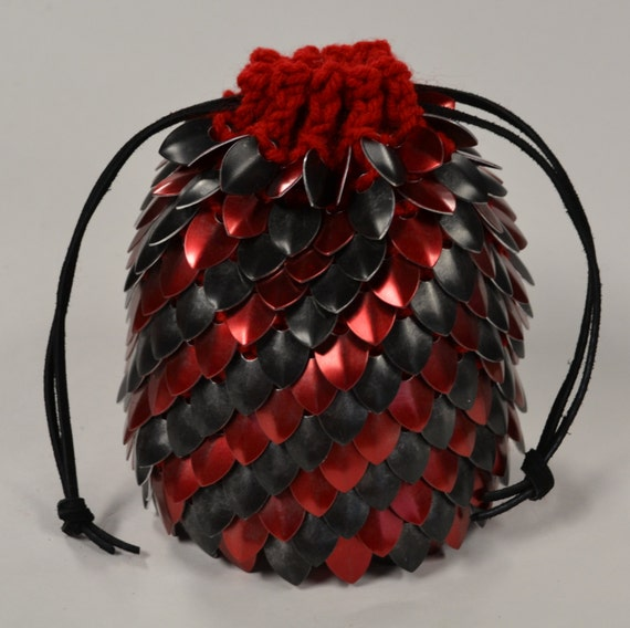 Dragon Dice Bag Crochet Pattern : Scale Mail Dice Bag of Holding in Knitted by Crystalsidyll ...