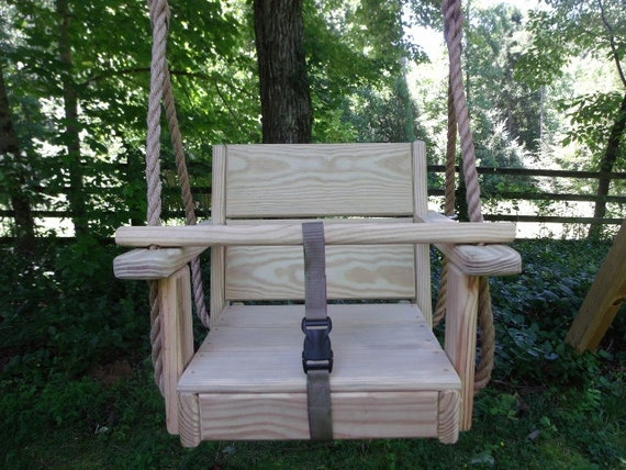 Wood tree swings toddler cypress swing and 10 feet of rope per for How to build a swing chair