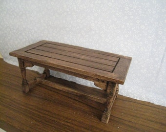 Miniature Table,Tudor, Medieval,  country  style, twelfth scale dollhouse piece