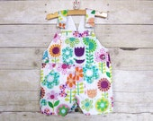 CLEARANCE SALE - Shortall in Hippy Daisies