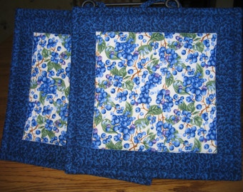 Blueberry Pot Holders -Set of 2
