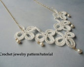 Shamrock crochet jewelry patterns - Instant download PDF.