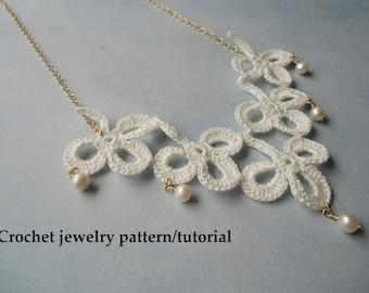 Shamrock crochet jewelry patterns - Instant download PDF.