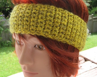 Yellow and Green Crocheted Headband CH/22/13