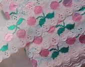 Vintage Lace Trim Pink Lace Trim Cherries