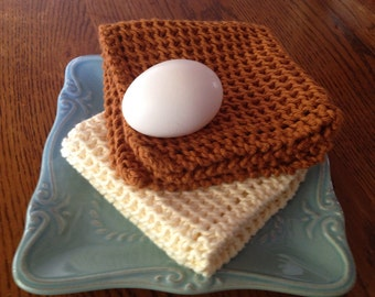 The BEST hand knit wash dish cloth Better Than Grandma's Favorite""
