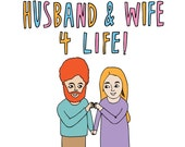 Romantic Card - Husband And Wife 4 Life