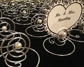 Wedding GOLD or SILVER  20  Placecard Holders  Party Favor Photo Holders Menu Cards Table Markers Escort Cards