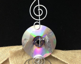 2 Music Note Centerpiece Treble Clef Sign Card Holder  Wire Stand Record  CD's Table numbers and Photo Holder MUSIC LOVER  wedding theme