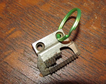Key Chain:  Unique Sewing Machine part key ring. Gift for Him, Ready to ship