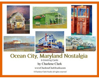 OCEAN CITY, Md NOSTALGIA - note cards