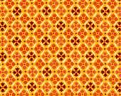COUPON Code Sale - Denyse Schmidt, Flea Market Fancy, Legacy, Medallion Red, Free Spirit, 100% Cotton Quilt Fabric, Orange, SELECT A SIZE