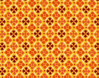 COUPON CODE SALE - End of Bolt - Denyse Schmidt, Flea Market Fancy, Medallion Red, Free Spirit, 100% Cotton Quilt Fabric, Orange Quilting