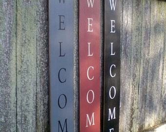 Primitive Wood Sign- Welcome Porch And Entry Decor